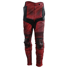 New Men Deadpool Costume Trouser- Deadpool Motorbike Faux/Pu leather Pant