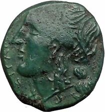 SYRACUSE in SICILY 287BC Persephone TYRANT HIKETAS Ancient Greek Coin i55791