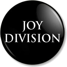 """Joy Division 25mm 1"""" Pin Button Badge Band New Wave Electronic Closer Logo Black"""