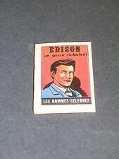 Livre miniature micro livre format 4x3cm Edison