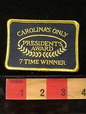 Patch PRESIDENT'S AWARD Carolina's Only Seven Time Winner. NC SC C659