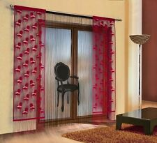 BEAUTIFUL LARGE SET OF FRINGE  NET CURTAIN WITH PANELS - ARMCHAIR DESIGN