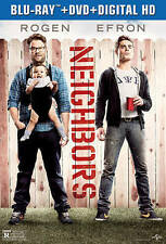 Neighbors NEW Bluray & DVD disc/case/cover only-no digital 2014 Rogen Efron