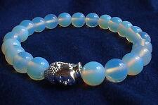 Irridescent BLUE OPALE cordone Mala Buddha Testa Bracciale ~ reiki ~ Healing dall' uomo ()