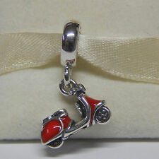 New Authentic Pandora Charm 791140en42 Red Enamel Scooter Dangle Box Included
