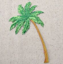 Iron-On Applique Embroidered Patch Tropical Beach Palm Tree LARGE
