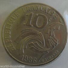 10 francs Jimenez 1986 : TTB : pièce de monnaie française