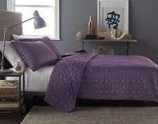 Latitude by Bryan Keith KING Size Signature Quilt Bedspread Plum Purple
