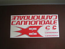 Cannondale Iroman Stickers Red, White & Silver.