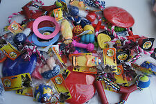 BULK ASSORTED PET DOG SQUEAKY CHEW ROPE BALL RUBBER FETCH TOYS X 12 DOG TOYS