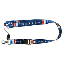 FRANCE BLUE COUNTRY FLAG LANYARD KEYCHAIN PASSHOLDER ..  NEW