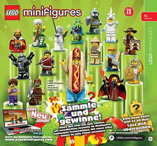 ***IN STOCK!*** Lego Minifigures Serie 13, Completa - Complete Series 16 pcs