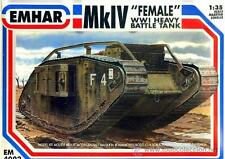 "Mk.IV ""FEMALE"" WWI HEAVY BATTLE TANK EHMAR 1/35 PLASTIC KIT"
