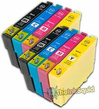 8 Ink Cartridges for Epson Stylus non-oem Replaces Epson T1291-4 (T1295) Apple