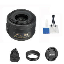 Nikon AF-s 35mm f/1.8G DX Nikkor Lens + 5 Pc Accesory Kit For Nikon DLSR Ca