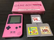 GameBoy Pocket console Pink Color with BOX and Manual 2
