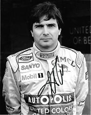 Nelson Piquet SIGNED  Original Period Benetton Portrait 1991