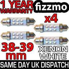 4x 38mm 39mm INTERIOR FOOTWELL GLOVE BOOT LIGHT FESTOON BULB 6 LED XENON WHITE
