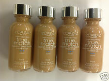 ( LOT OF 4 ) L'Oreal True Match Super Blendable Foundation #C6 TAWNY BEIGE NEW.