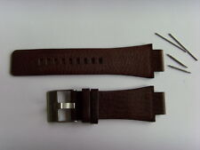 Diesel original LW pulsera de cuero dz1175 uhrband marrón watch Strap Brown