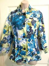COLDWATER CREEK Lightweight Floral Jacket~SZ 20-22~1X  2X  Spring Colors