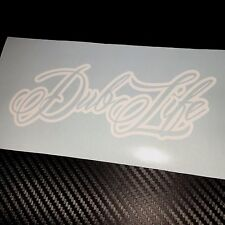 WHITE Dub Life Sticker Decal VW VDUB Beetle Bus Bug