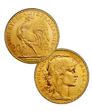 Random Date 1899-1915 French Gold 20 Francs Rooster Coin .1867 Oz (AGW) SKU29057