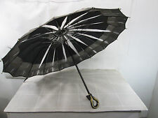 Vintage Black Edwardian Era Umbrella with Fancy Plastic Handle