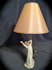 "Mint Condition~ Adorable Lladro Nao ""Boy Yawning"" Lamp (Works Great)"