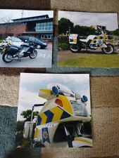BMW POLICE MOTORCYCLE POLICE PUBLICITY PHOTOS x 3  Brochure connected  jm