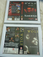 Blood wine & Wolf Jack nicholson vhs sleeve Framed Poster B Movies Photo Dvd