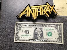 VINTAGE SMALL ANTHRAX PATCH EMBROIDERED RARE METAL!! Free Shipping!!