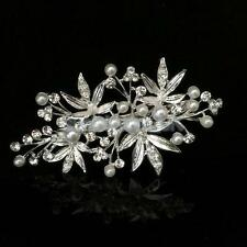 VINTAGE DIAMANTE BRIDAL FLOWER HAIR PIN GRIP CLIPS SLIDE WEDDING PARTY