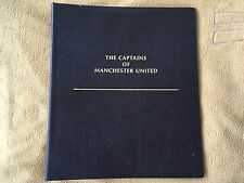 FUTERA MANCHESTER UNITED CAPTAINS 1998 EMPTY FOOTBALL CARD BUCKRAM ALBUM