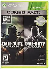 Call Of Duty: Black Ops 1 & 2 Combo Pack [Xbox 360, NTSC, Video Game] Brand NEW