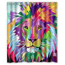 Brand New Lion Art  Waterproof Bathroom Shower Curtain 60 x 72 Inch