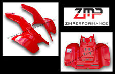 NEW HONDA TRX 250R *FIGHTING RED* OEM COLOR PLASTIC FENDERS PLASTICS