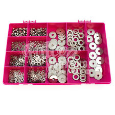 700 ASSORTED PIECE A2 STAINLESS M3 M4 M5 M6 M10 FULL NUTS, PENNY WASHERS KIT