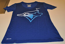 Toronto Blue Jays MLB Baseball XS Ladies Women V Neck Legend Graphic DF Shirt