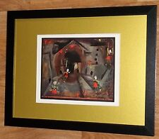 Framed 12x16'', Paul Klee, Dance of Red Skirts, masters paintings, Rare Abstract