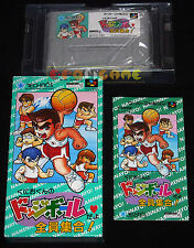 KUNIO-KUN NO DODGEBALL DAYO Snes Super Famicom Ver Giapponese NTSC ○○○○ COMPLETO