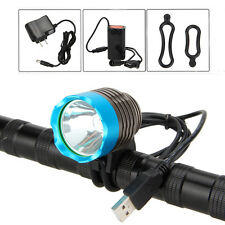 4.2V 3000Lumen  XML T6 LED USB Head Front Bike Bicycle Light Headlight+6400mAh