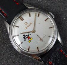 COLLECTABLE OMEGA SWISS WATCH REFINISHED MICKEY MOUSE DIAL