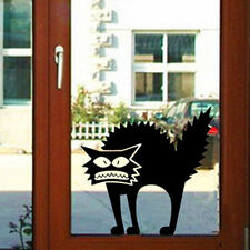 Punk Scary Black Cool Cat Removable HALLOWEEN Vinyl Decal Window Wall Sticker