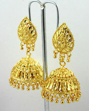 Indian Ethnic Bollywood Wedding Gold Plated Jhumka Costume Jewellery Earrings