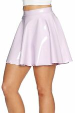 BLACK MILK CLOTHING XL MAUVE PASTEL PVC SKATER SKIRT SOLD OUT - NOT AVAILABLE