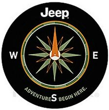 "Jeep Adventure Begins Here Spare Tire Cover For 31"" - 33"" Tire New Free Shipping"