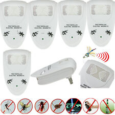5X White Ultrasonic Electronic Anti Mosquito Rat Mice Pest Bug Control Repeller