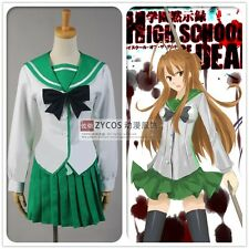 female uniform High School of The Dead Saeko Busujim Cosplay Custom