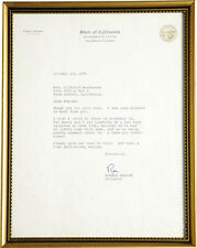 RONALD REAGAN - TYPED LETTER SIGNED 10/23/1970